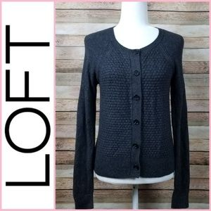 Ann Taylor Loft Button Front Cardigan Sweater